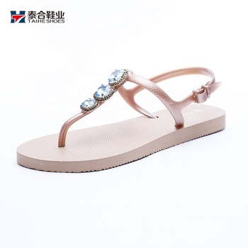 Girl slip-on Rhinestones flip flops shoes women sandals summer