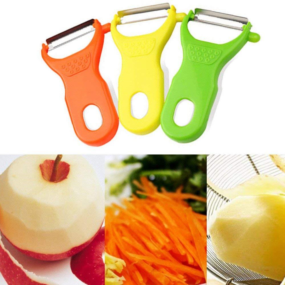 Potato Vegetable Straight Edge Swivel Peeler Spud Fruit Slicer Speed Cutter