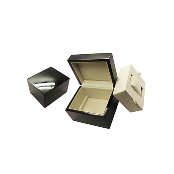 Luxury Piano Lacquer MDF Wooden Gift Box Packaging Watch Box Black