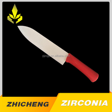 Eco-friendly red handle zirconia ceramic chef knife with ZC