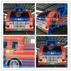 Fire truck shaped commercial inflatable jumpers for sale
