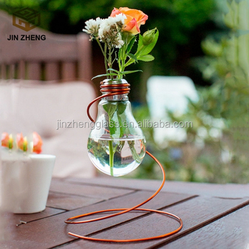 Hanging Light Bulb Planter And Vase Perfect For Garden Weddings