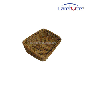 handweaved washable ladder plastic rattan bread basket for cheese