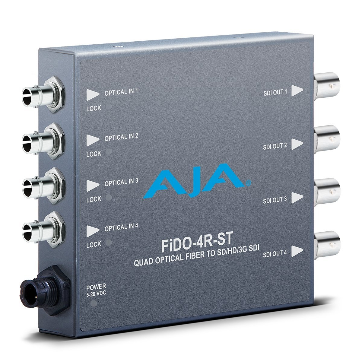 AJA FiDO-4R-ST Four Channel ST SDI to Fiber Mini Converter