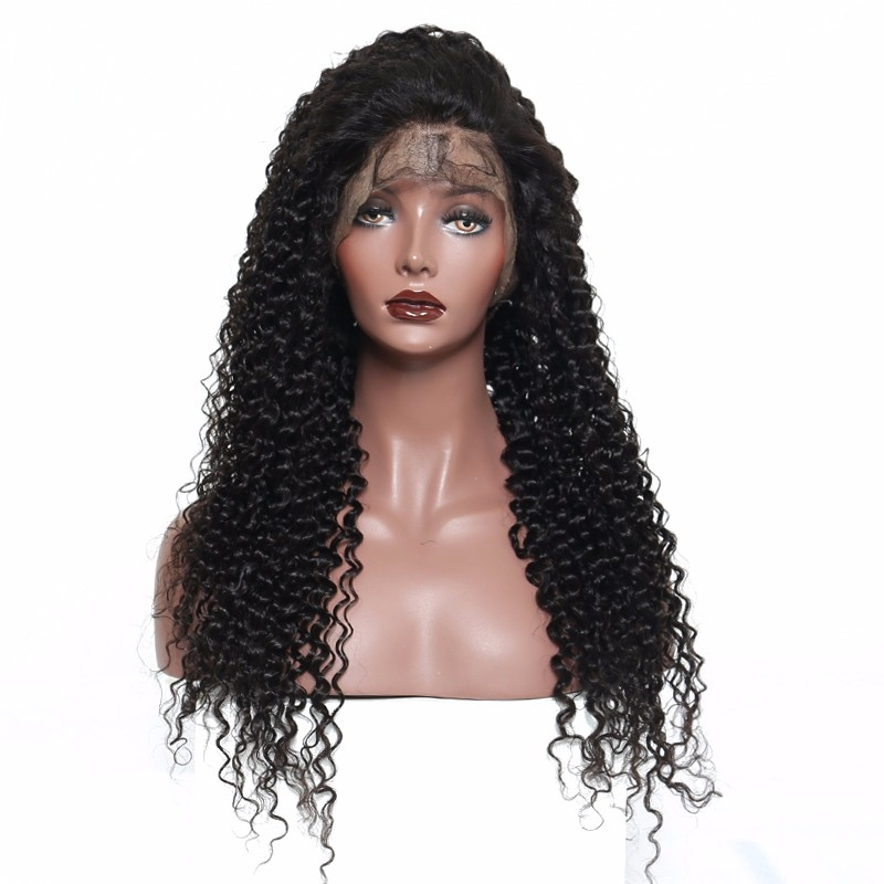 Groothandel top 8A grade virgin haar afro lace front pruik lace 100% braziliaanse menselijk diepe golf gehaakte haar krullend kant frontale pruiken