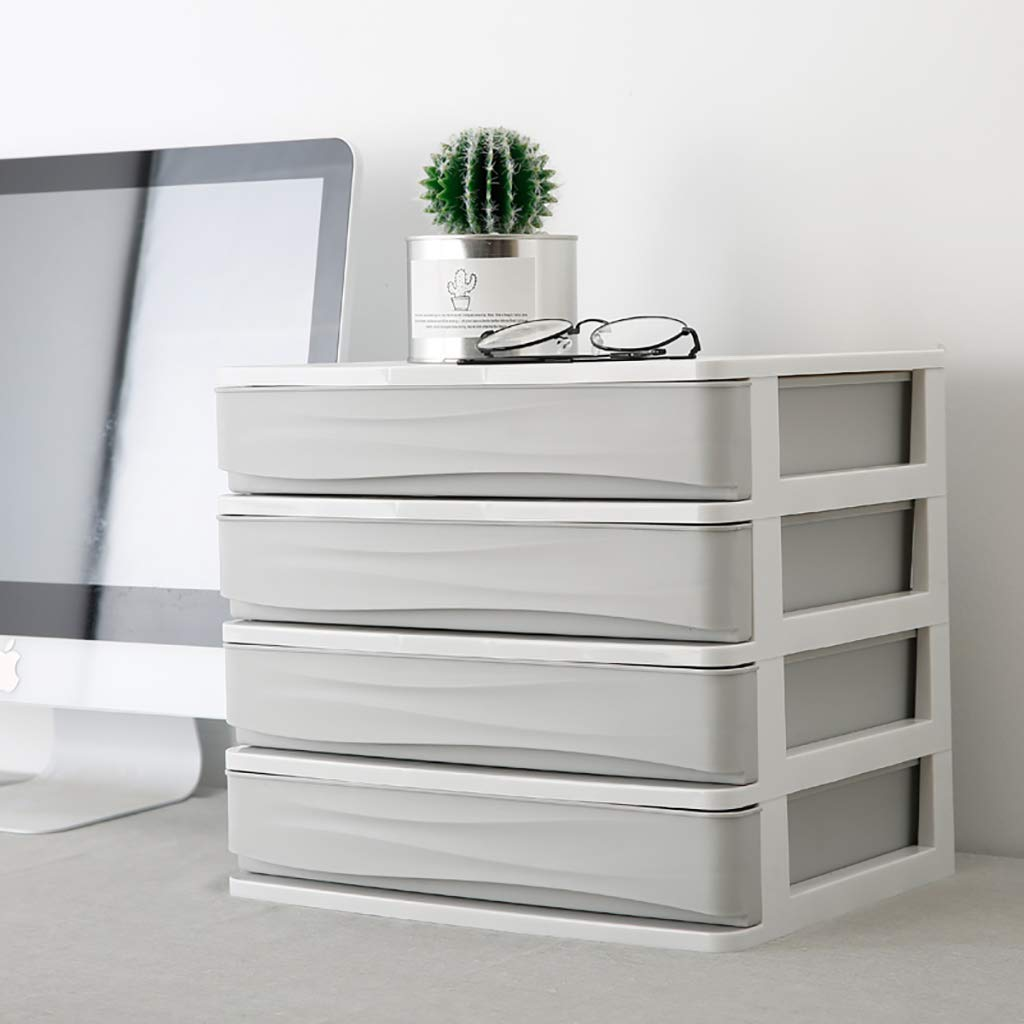 WJ Drawers Drawer Storage Trolley, Monochrome Mobile Storage Trolley Home,Office & Salon (Color : A)
