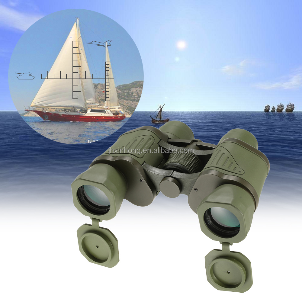 Professional Binoculars10X50 Military Binocular Army Green Powerful Telescope High-definition for Hunting Scope + Storage Bag