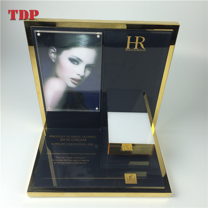 Countertop Holder Custom Acrylic Cosmetic Makeup Display Unit Stand