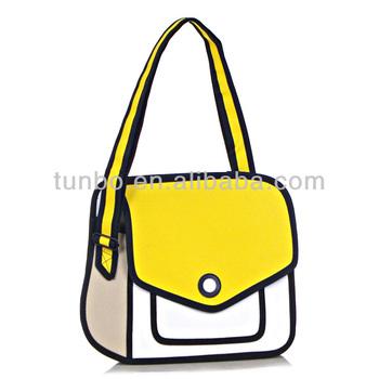 Cartoons Bag Three Dimensional One Shoulder Jump Women S Handbag From Cartoon Paper 3d