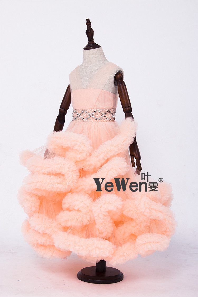 Cloud little flower girls dresses for weddings Baby Party frocks sexy children images Dress kids prom dresses evening gowns 2016 15