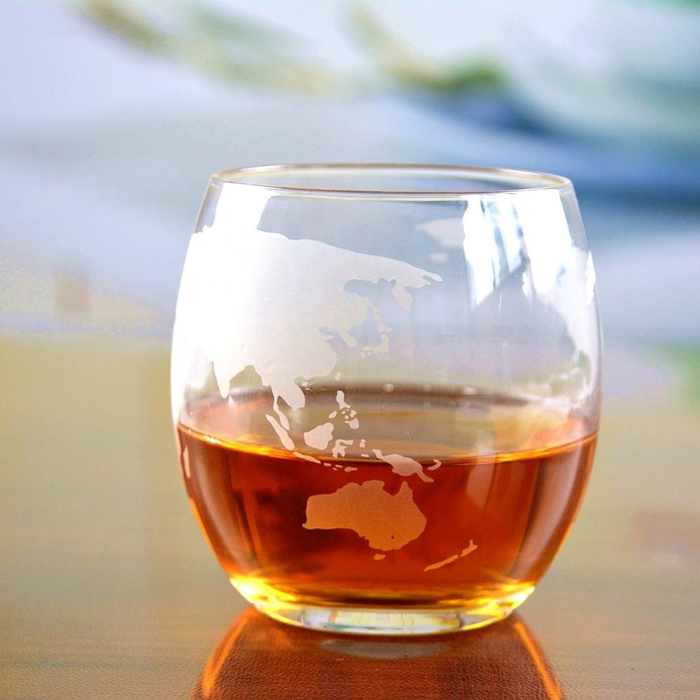Wholesale Etched Lead Free Crystal Glass Whisky Cup
