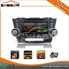 8 inch touch screen Car Stereo, Autoradio DVD GPS Navigation for TOYOTA Highlander 2008- with map, bluetooth, 3D UI