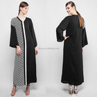 Custom Latest Kaftan Abaya Burqa Fashion Half Bodice Print Design