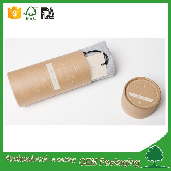paper tube for fabric rolling/clothes packaging tube/t-shirt paper tube, t-shirt round box brown kraft material recycled
