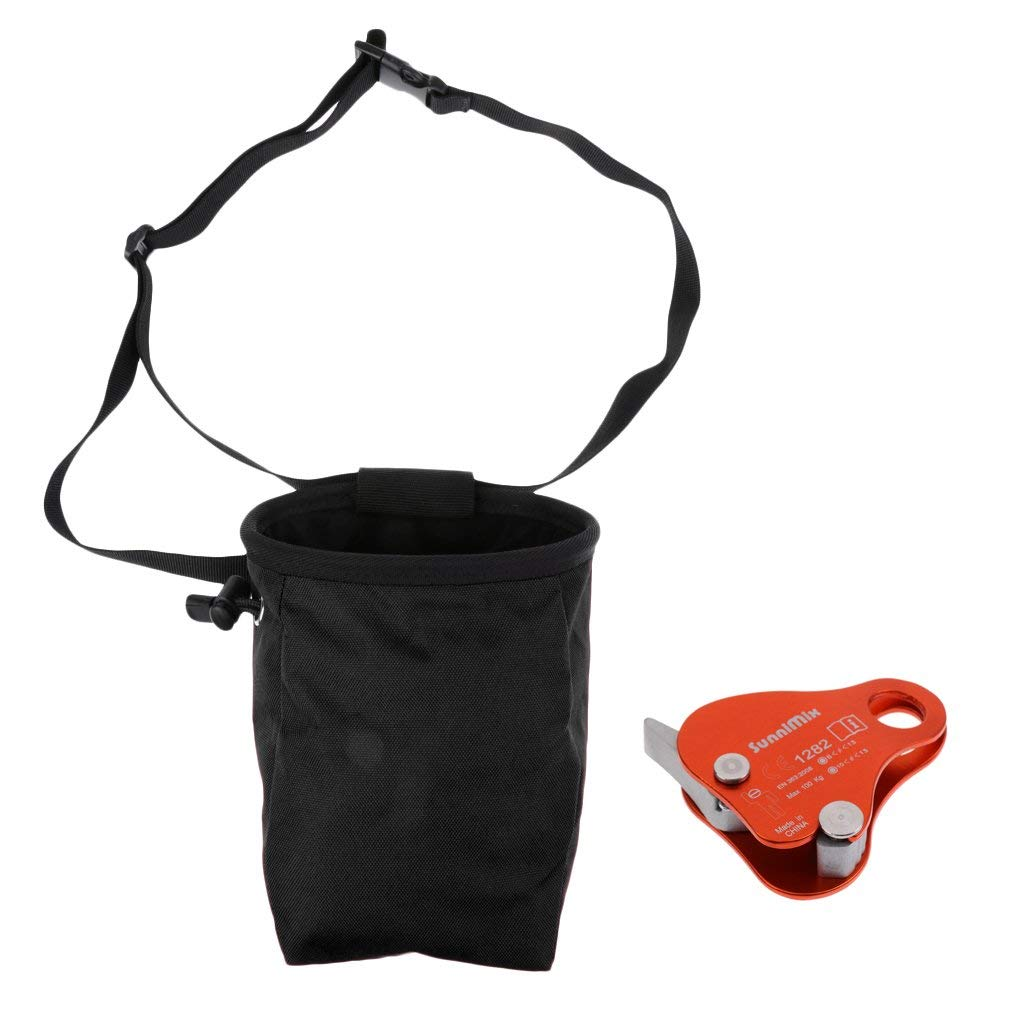 Fityle Waterproof Rock Climbing Caving Chalk Bag with Climbing Rope Grab, Great for Bouldering, Gymnastics, Weight Lifting