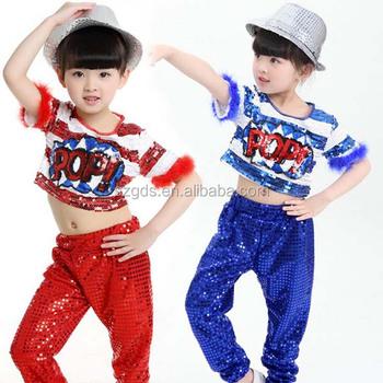 Nuevo lentejuelas Jazz Hip hop danza de la etapa de la ropa de los niños y 229c84acfe7