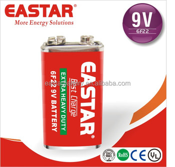 Fast Delivery Popular Zinc Carbon 6F22 9V Primary Dry Battery