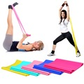 1 2m Elastic Yoga Pilates Rubber Stretch Exercise Band Arm Back Leg Fitness Free Shipping