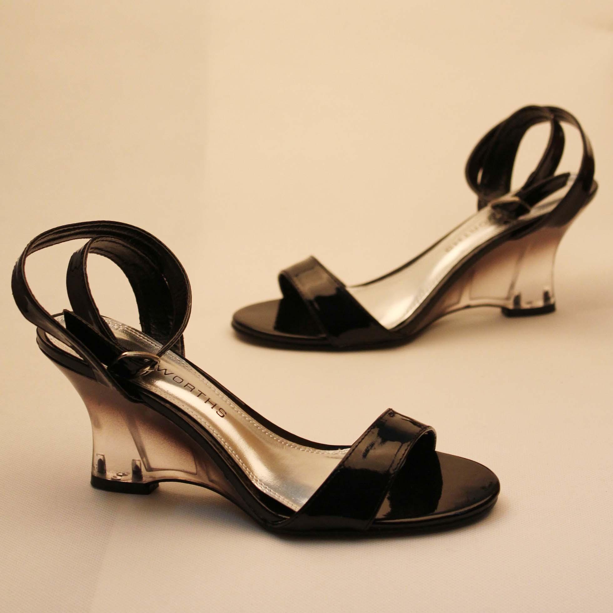 Free Shipping Fashion Truworths Transparent Heel Sandals