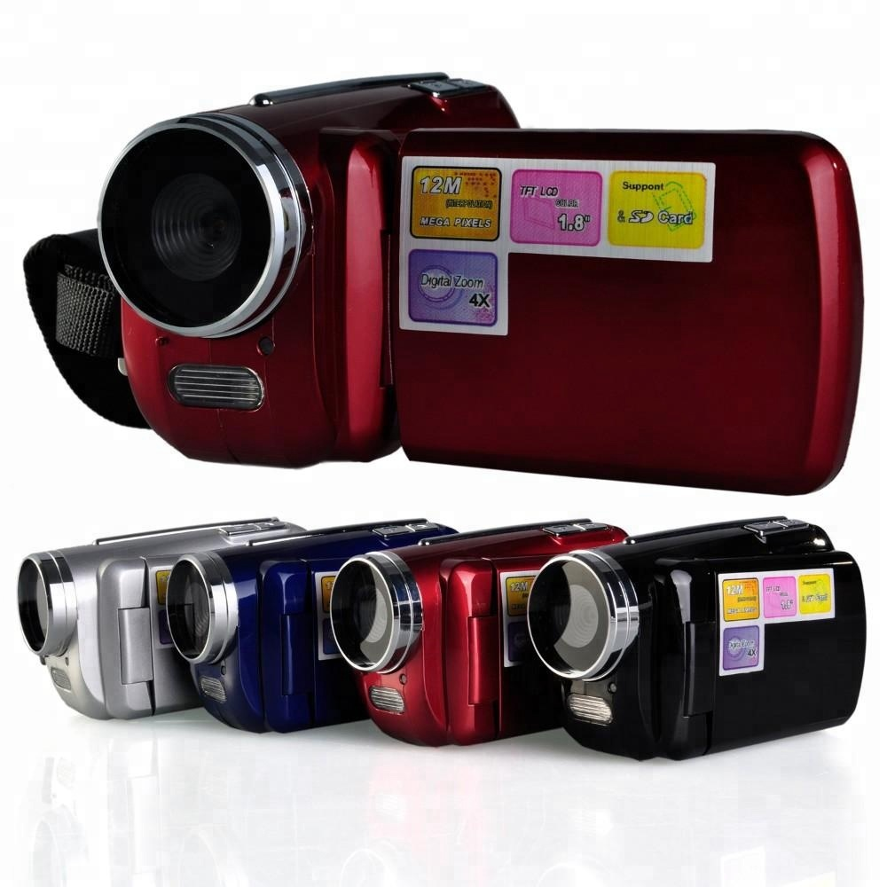 DV139 12MP 720P HD Digital Video Camera com 4 x Zoom Digital 1.8 Tela LCD Mini DV Digital Camcorder luzes LED Flash DV-139