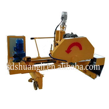 concrete curb cutting machine with concrete saw