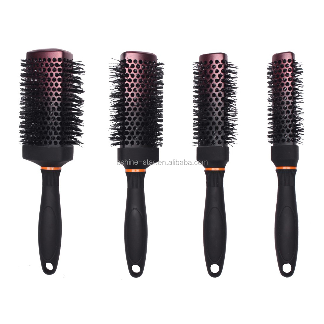 nano technology  triangle barrel ceramic and ionic hair brush