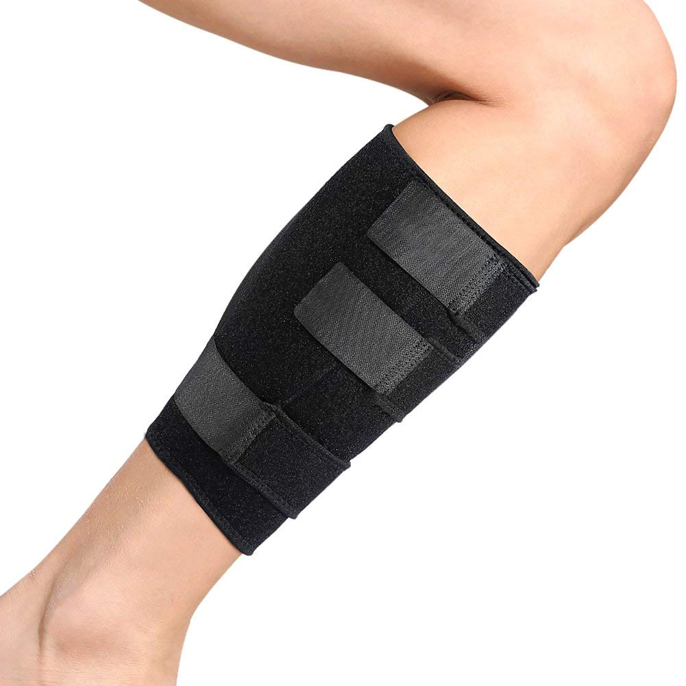e9af1d0afa Get Quotations · Calf Brace Adjustable Shin Splint Support Sleeve Leg  Compression Wrap for Pulled Calf Muscle Pain Strain