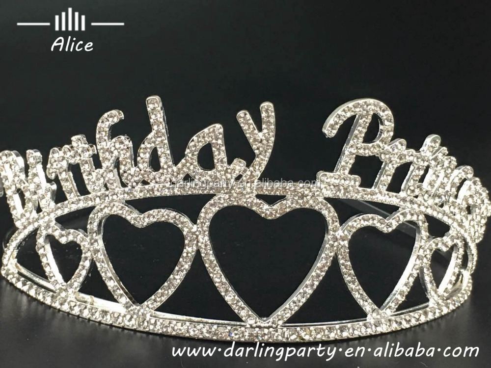 birthday princess crowns with diamond for party decoration