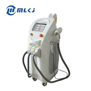 Factory price OPT/ e-light ipl rf+nd yag laser multifunction machine 4 in 1 Beauty Equipment /4 in 1