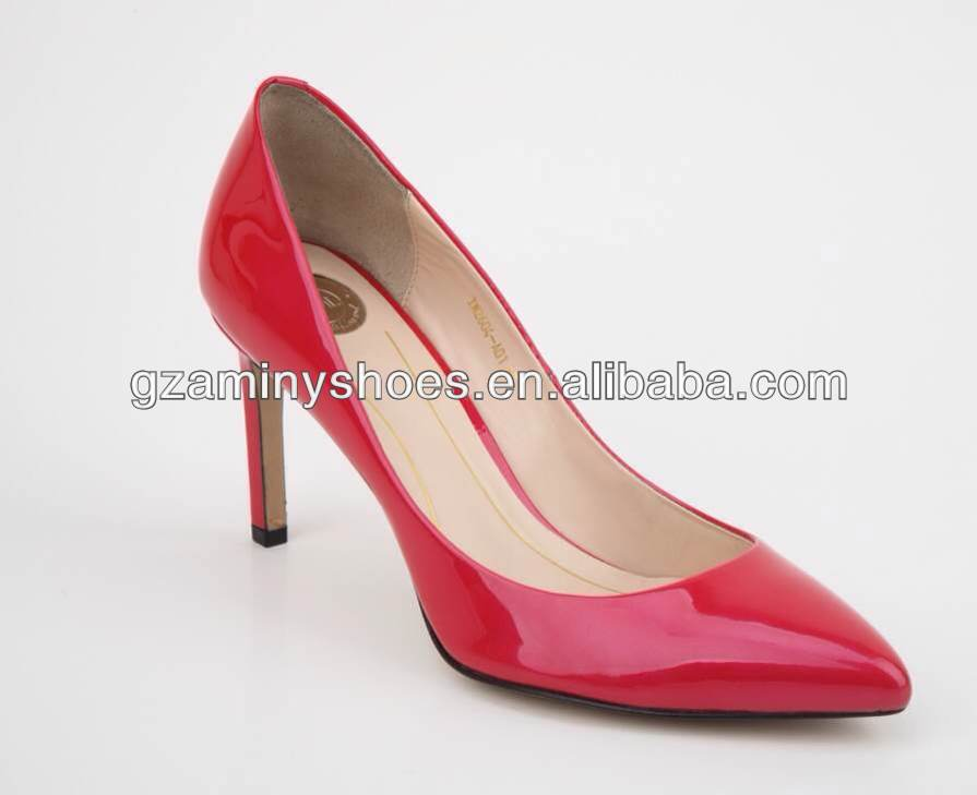 office leather heel patent womens for shoe Middle qdtE8w5xt