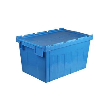 Foldable Lids Moving Storage Box Heavy Duty Plastic Crate