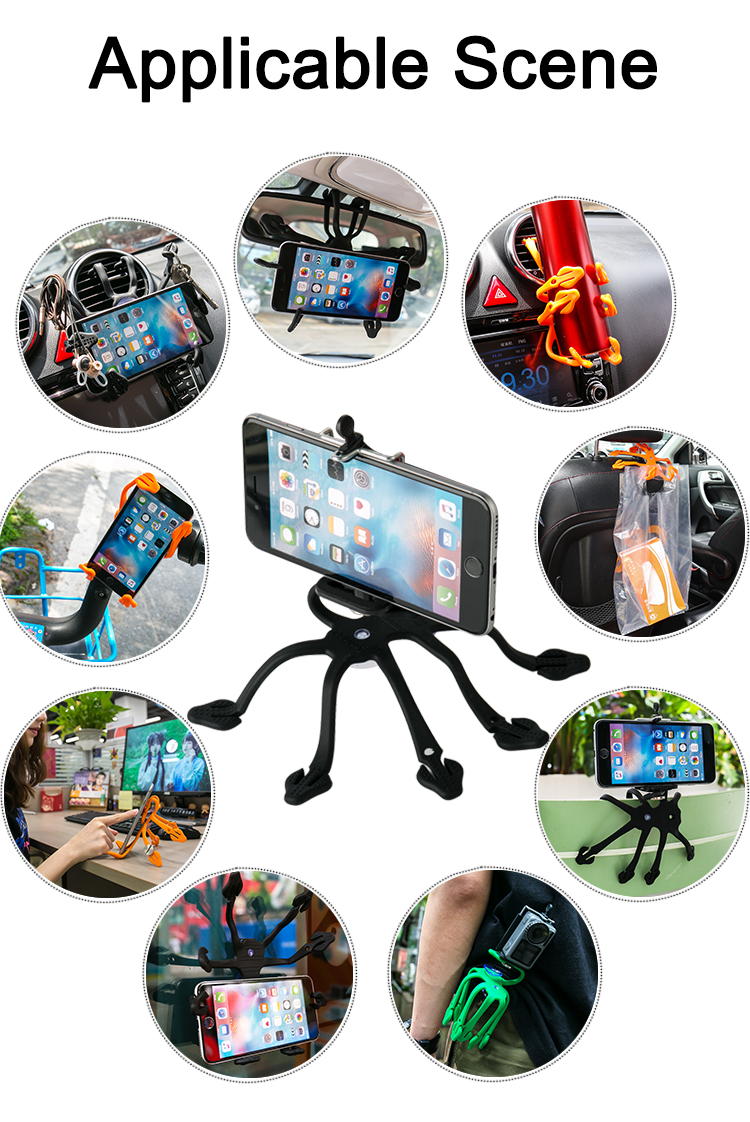 COOLNICE Portable Universal Multi-Angle Silicone Hanging Suction Mobile Modern Cell Phone Stand