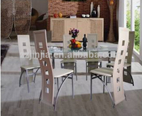 Home use furniture modern style dining set with 6 chairs