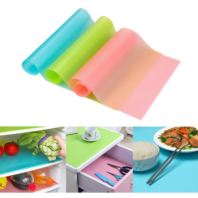 Multifunctional kitchen anti-fouling food grade silicone refrigerator mat