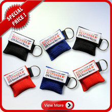 Hot Sale CPR Mask Key Ring/CPR Mask Keychain/CPR Mask in pocket One Way Valve