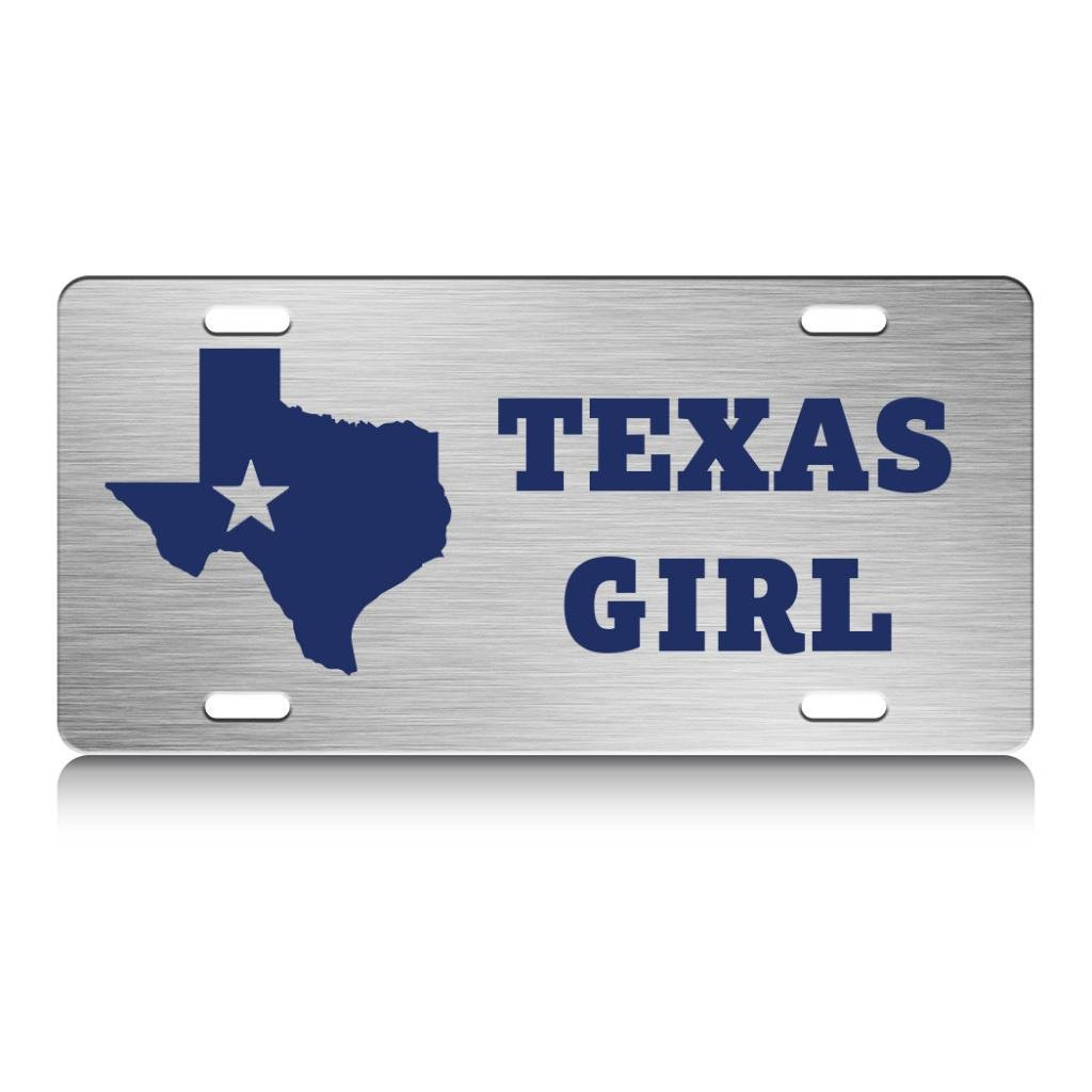 TEXAS GIRL Country Cowboy Texas Steel Metal License Plate Auto SUV Tag Ch.