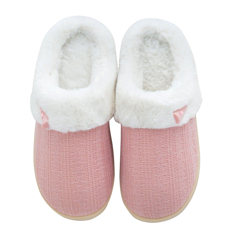 Comfort Memory Foam Slippers,Soft Coral Velvet Short Plush Lining Slip-On Memory Foam Clog Slipper,Indoor/Outdoor Anti-Skid Rubber Sole,For Men and Women