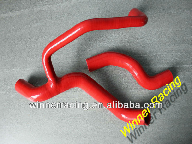 Red radiator silicone hose for Fiat Punto GT 1.4L TURBO 1993-1999