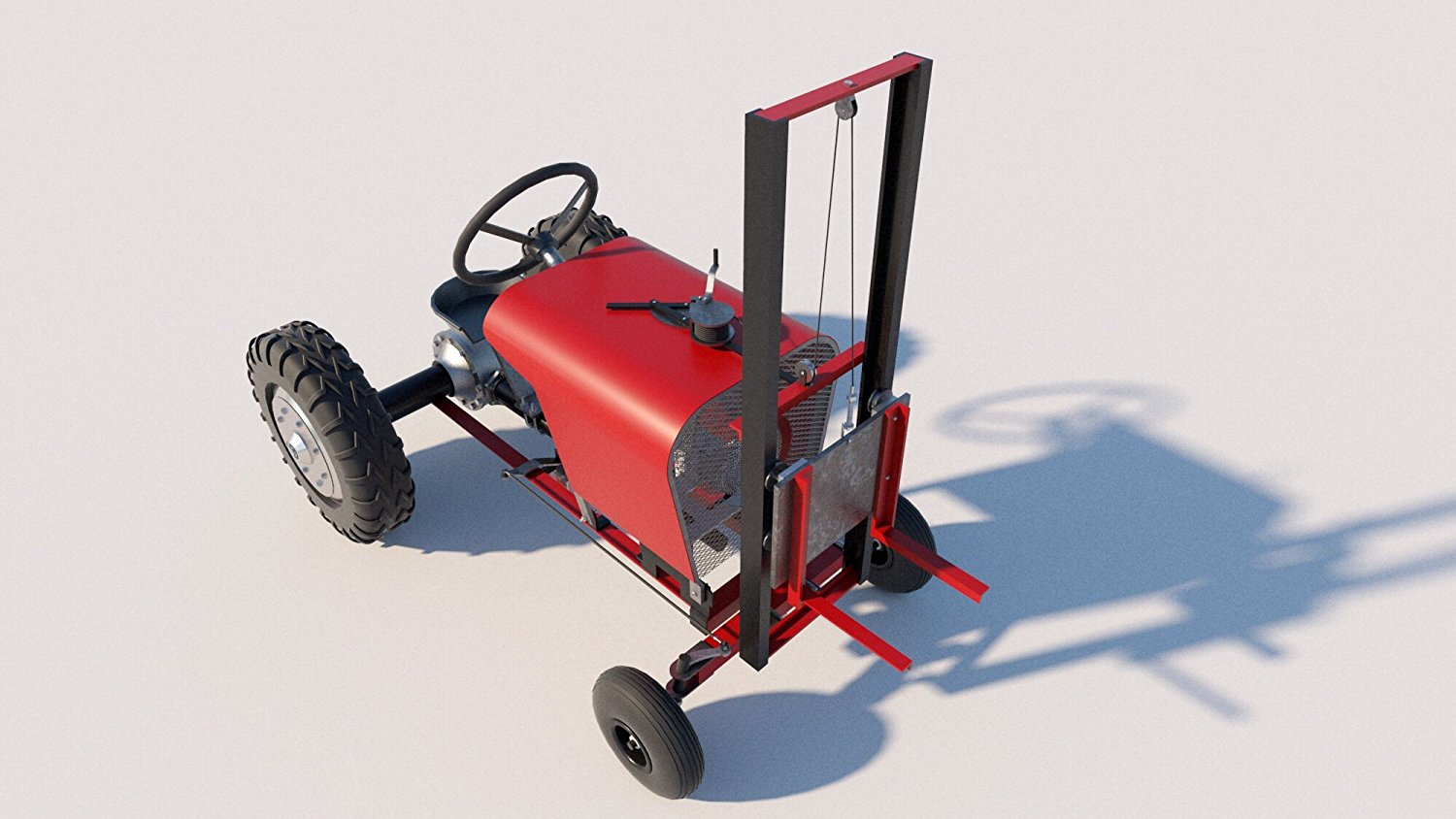 Get Quotations · DIY Plans Build your own Fork Lift Attachment for a Garden Tractor Fun to build!