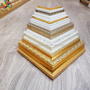 Polystyrene cheap strip gold picture frame moulding for islamic frame arabic frame
