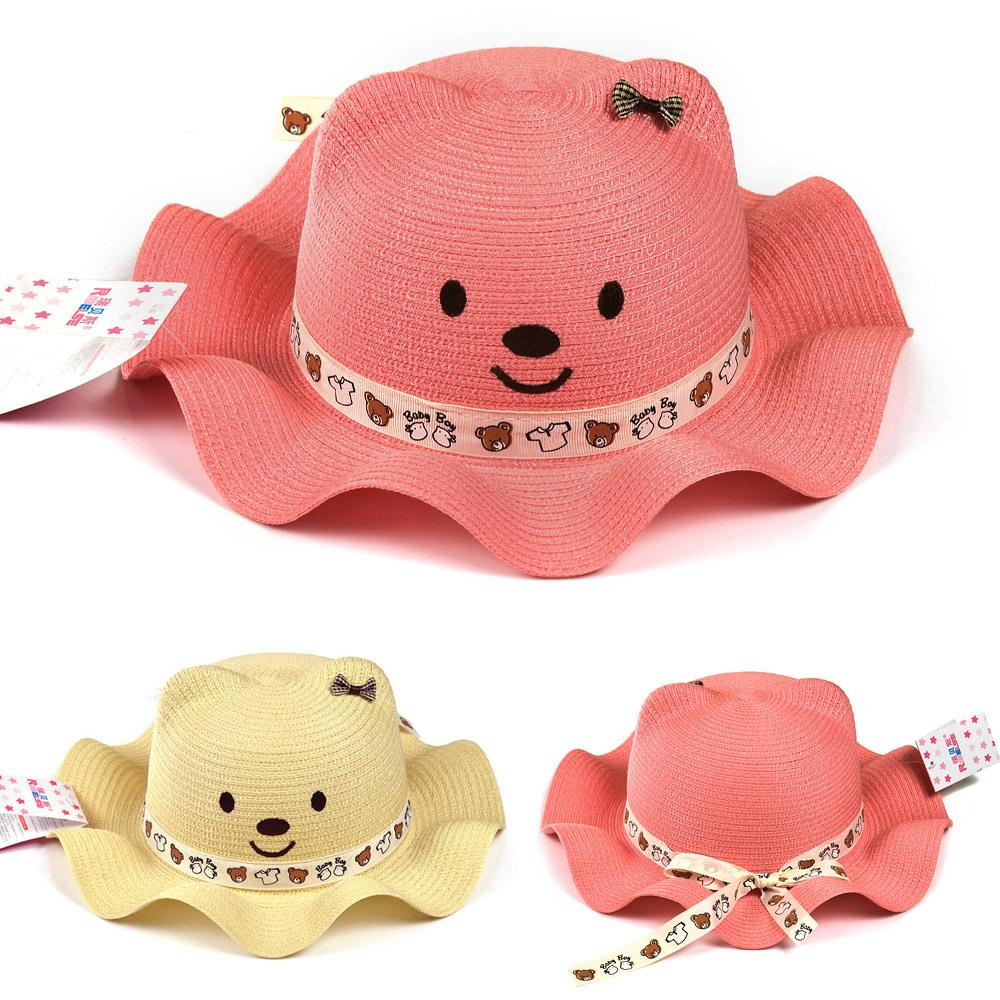 d9047809c3 Get Quotations · Korean Fashion Baby Hat Baby Sun Cap Summer Cute Bear Sun  Hat Visitor Seabeach Hat For
