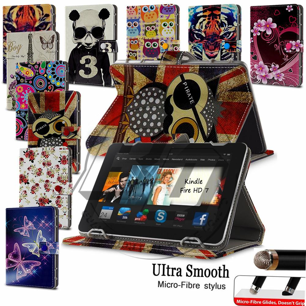 For Amazon Kindle Fire HD 7 7inch Tablet PC High Quality  Universal Print Butterfly Flower Wallet Flip PU Leather Case Cover