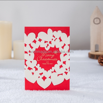 wishmade personalized christmas and happy new year greeting card with glitter screen sx11227