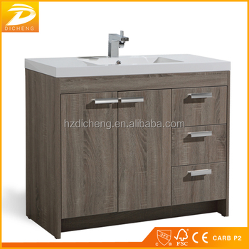 Traditional Free Standing Modern Commercial Bathroom Vanity Units With Top