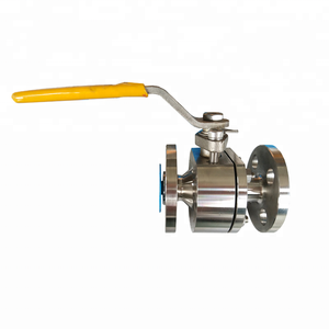 DN20 3/4 Inch 150 LB Stainless Steel 316 Body PTFE Seat 2PC Body Flange Mini Ball Valve Lever Operated Floating Ball Valve