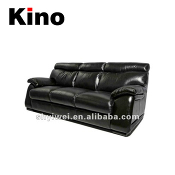 Black Leather Sofa High Back Sofa Office Drawing Room Sofa - Buy ...