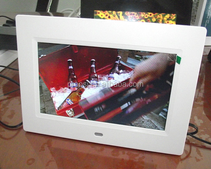 7 inch lcd video player with cardboard floor display stand for product showing