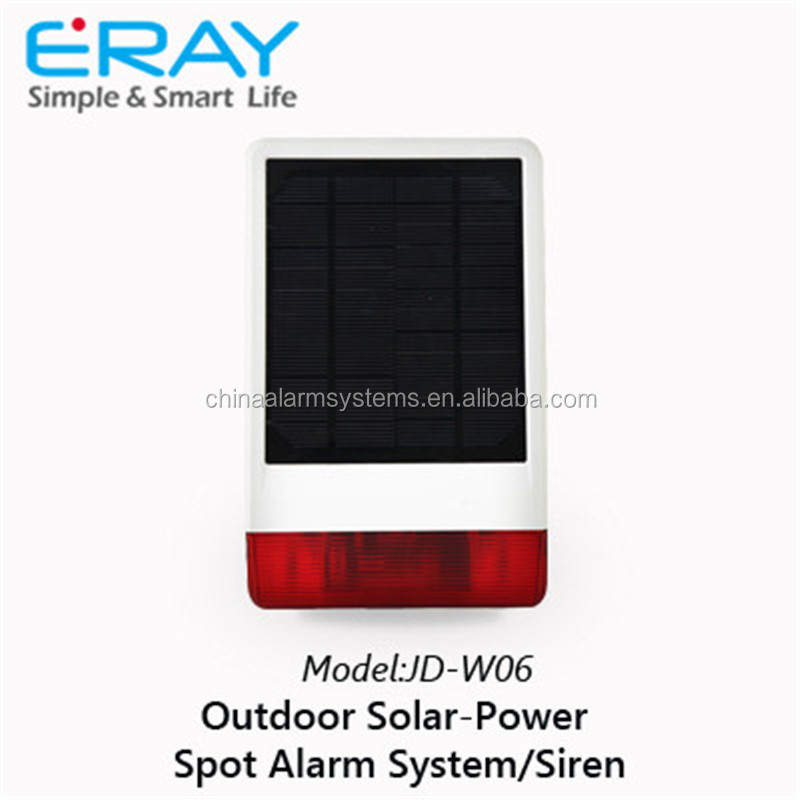 HOT!Outdoor Wireless Solar Powered Siren Home Alarm with Flash