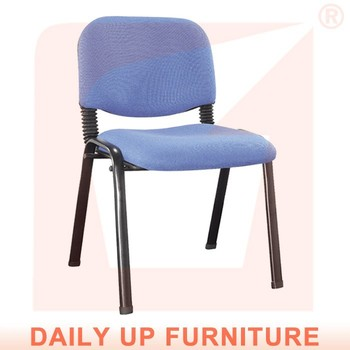 Fabric Reception Chairs Office Chair Back Support Cushion Padding Visitor  Chair
