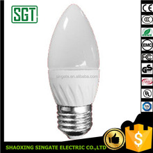 CE ROHS E27 Dimmable LED Candle Light, C37 7 w LED Bougie Ampoule, Bougie LED lumière Alibaba Chine